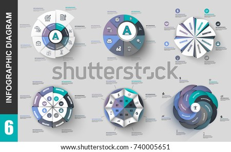 Infographic elements data visualization vector design template. Business concept with 8 options, steps or processes, workflow, cycle diagram, circle chart, infochart, marketing icons, info graphics.
