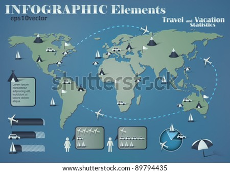 infographic elements for travel