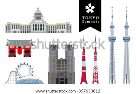 infographic elements of tokyo