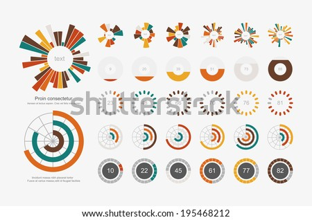 Infographic Elements.Pie chart set icon