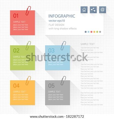 infographic elements   post it