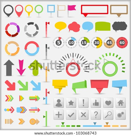 Infographic Elements, vector eps10 illustration - stock vector