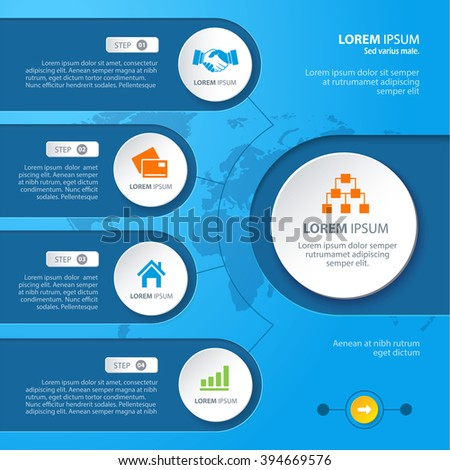 Infographic elements with various icons suitable for infographics,  presentations, etc.