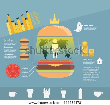 Infographic. Fast Food Stock Vector Illustration 144954178 ...