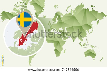 Sweden Map Vector Download Free Vector Art Stock Graphics Images - Sweden map flag