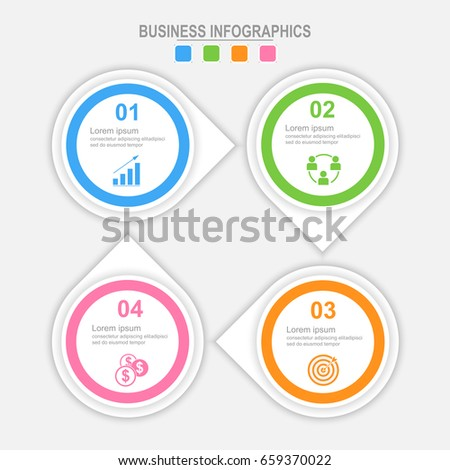 Infographic four options, template for your design, business concept vector