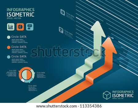 infographic isometric graph   / can be used for infographics / graphic or advertise layout vector - stock vector