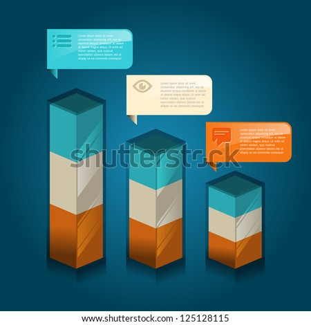 infographic isometric graph / graphic or advertise layout vector