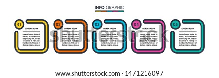 Infographic label design with 5 options or steps. Infographics for business concept. Can be used for presentations banner, workflow layout, process diagram, flow chart, info graph. Vector info graphic