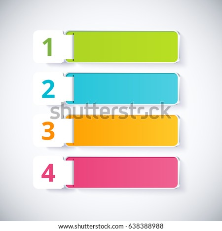 infographic label with 4 choice. vector illustration