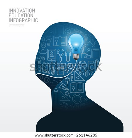 infographic man with light bulb