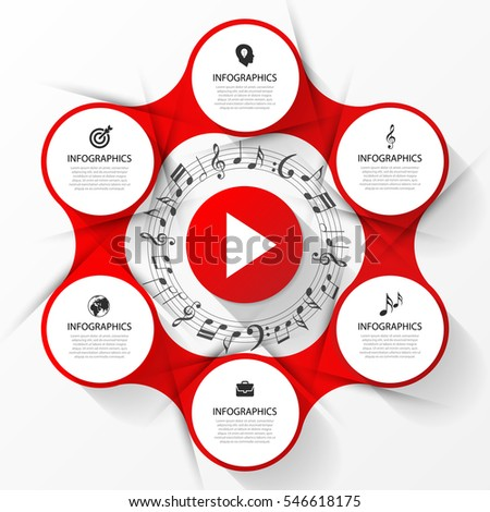 infographic music concept