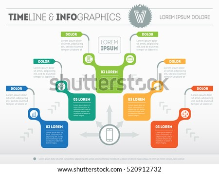 Infographic template, Eps10, vector illustration, For ...