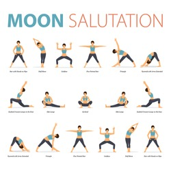 Infographic of Yoga poses for yoga at home
