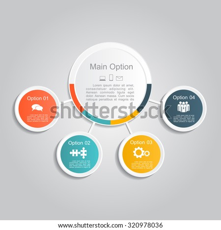 Infographic report template layout. Vector illustration Eps 8.
