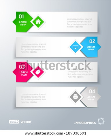 infographic 4 row tags with