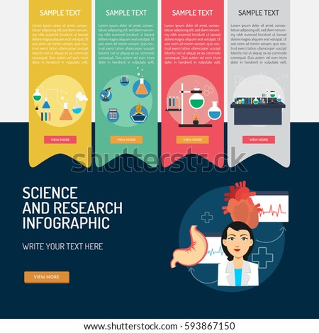 Infographic Science and Research