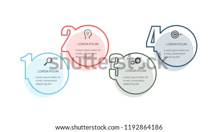 Infographic step elements isolated on white background. Modern infographic step elements for web site, brochure, label, poster, placard, and banner. Creative business concept, vector illustration