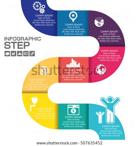 infographic step for success