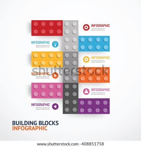Infographic Template building blocks banner . concept vector illustration