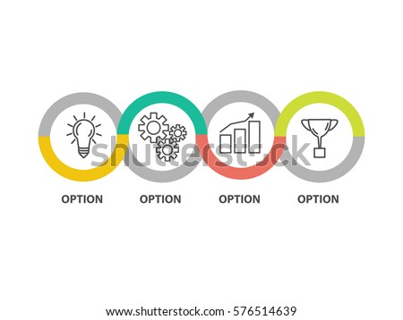 Infographic template business concept diagram. Idea. Strategy. Progress. Success. Vector EPS 10