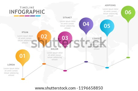 Infographic template for business. 5 steps Balloon Timeline diagram, presentation vector infographic.