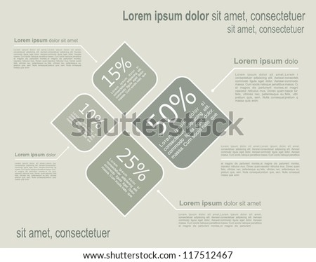 Infographic template. Vector illustration