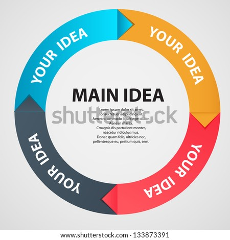 Infographic template vector illustration - stock vector