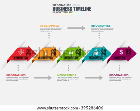 Infographic timeline vector design template. Can be used for workflow layout, data visualization, business concept with 6 options, parts, steps or processes, banner, diagram, chart, web design.