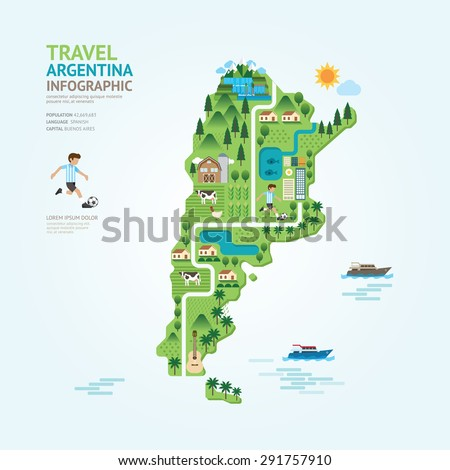 infographic travel and landmark