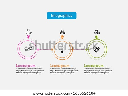 Infographic vector design template for illustration. Presentation business infographic template with 3 options. Creative concept for infographic. Photo stock ©