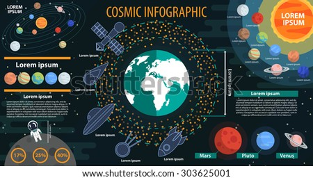 infographic vector space