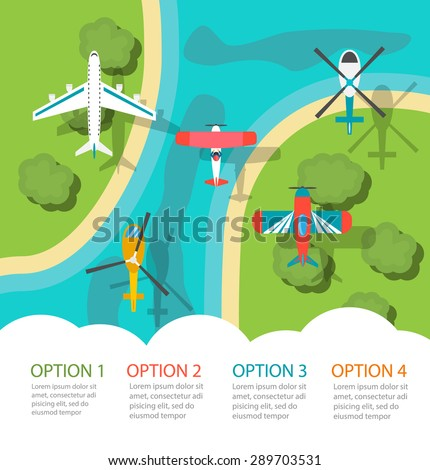 infographic with planes and