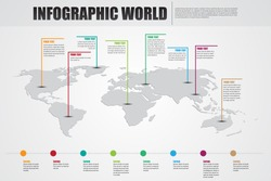 infographic world destination vector background