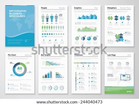 infographics brochure elements...