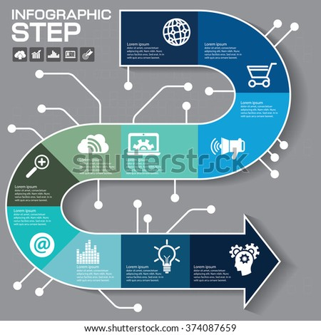 Infographics business stair 10 step success vector design template.