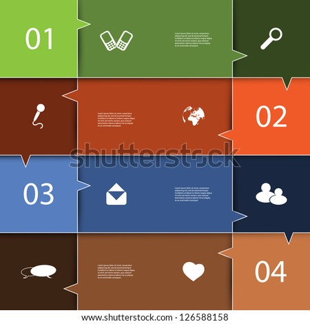 Infographics Cover - Speech Bubble Design with Icons
