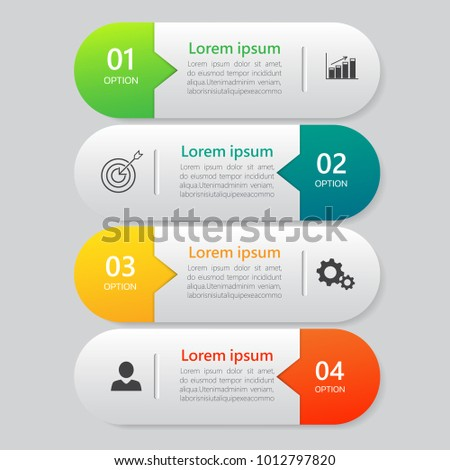 Infographics design template, Business concept with 4 steps or options, can be used for workflow layout, diagram, annual report, web design. Creative banner,label vector.