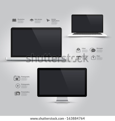 infographics design ui elements
