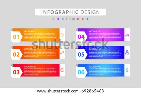 Infographics design vector and icons can be used for workflow layout, diagram, annual report, web design and business concept.