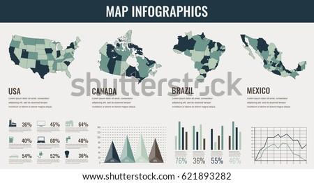 Canada Map Vector Download Free Vector Art Stock Graphics Images - Us canada map vector