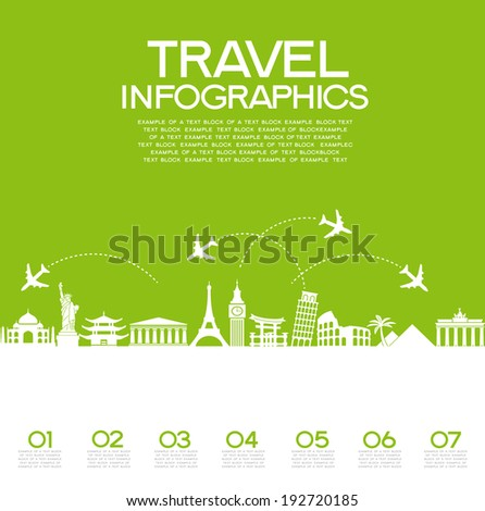infographics elements  travel