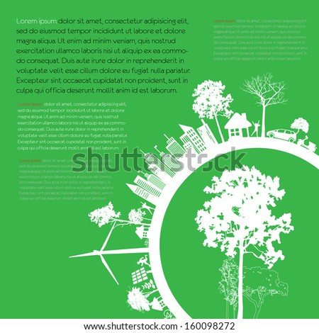 infographics green modern city