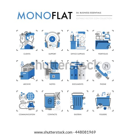 Infographics Icons Monoflat 2.0 Collection