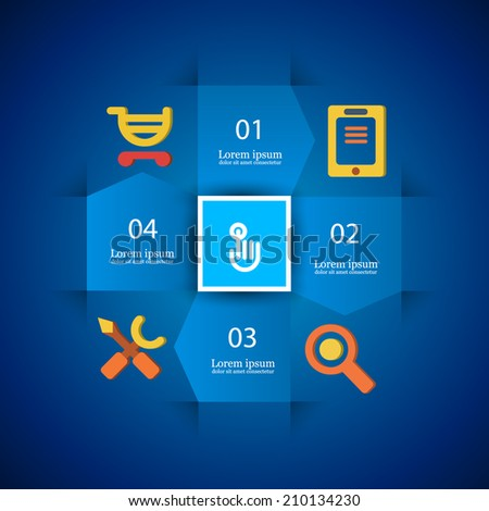 infographics Instructions for Online Store tech company's business