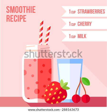 infographics of strawberry and