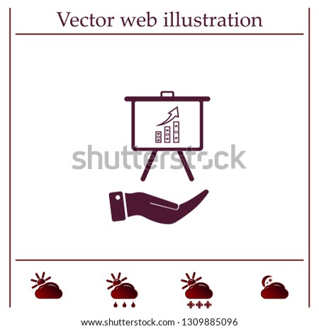 Infographics on the stand, vector illustration.