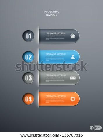 infographics options banner for workflow layout, diagram, number options, web design. eps10 illustration #136709816
