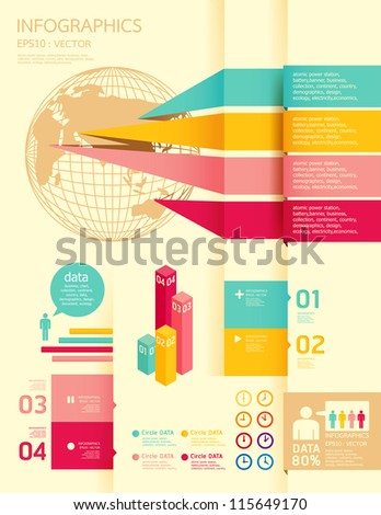 infographics set and Information Graphics vector.