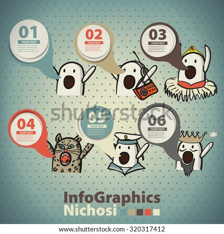 infographics set in the style